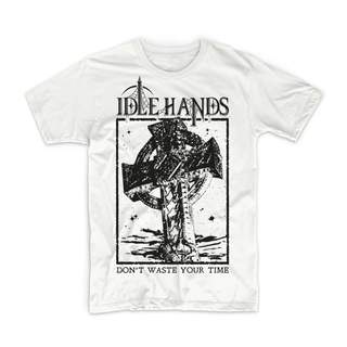 IDLE HANDS - Don't Waste Your Time, T-Shirt (white)